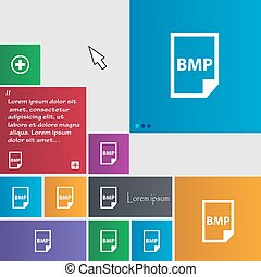 BMP Icon sign. buttons. Modern interface website buttons...
