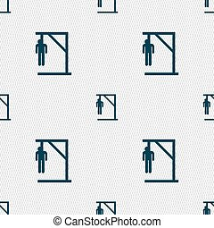 Suicide concept icon sign. Seamless pattern with geometric...
