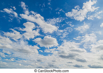 Blue sky clouds nature background