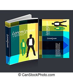 book cover design isolated over colorfull background