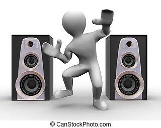 Dancing man. 3d