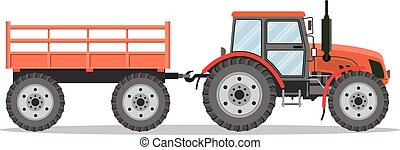 green tractor with semi-trailer