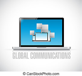 global communications concept with electronics