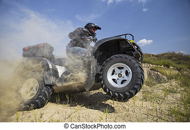 ATV Rider in the action.