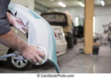 preparation for painting cars, bumper, shop Body Repair,...