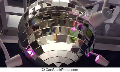Party Disco ball with colorful lights - Party Disco ball...