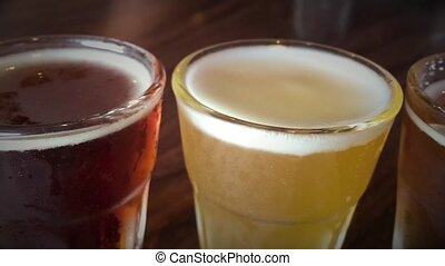 Selection of different beer types - A selection of light and...