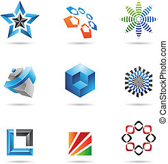 Various colorful abstract icons 2 - Various colorful...