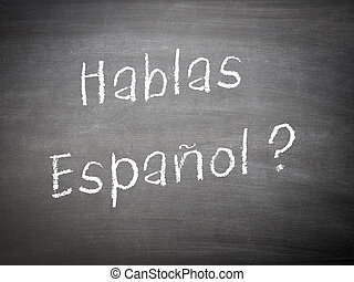 Learning language concept Spanish - Learning language...
