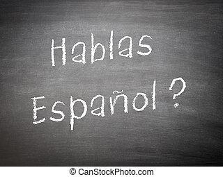 Learning language concept Spanish - Learning language...