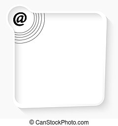 White box for your text and email