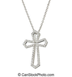 White gold chain with pendant