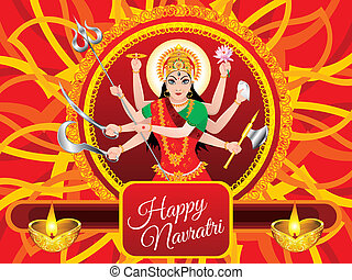 abstract artistic detailed navratra background