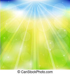 Abstract Vector Green And Blue Background - Abstract Green...