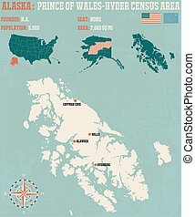 Prince of Wales–Hyder Census Area in Alaska - Large and...