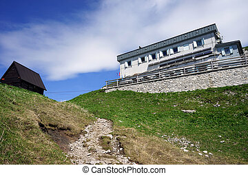 Mountain hut on the top on Crna Prst