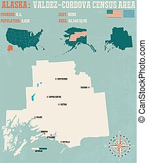 Valdez–Cordova Census Area in Alaska - Large and detailed...