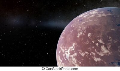 flying over an unknown planet - flights to outer space