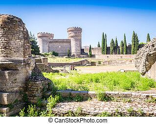 Stronghold Rocca Pia and Amphitheater di Bleso, Tivoli,...