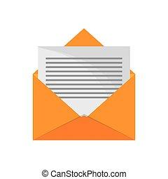envelope email letter design