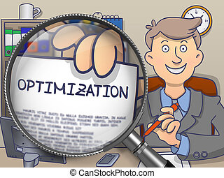 Optimization through Magnifier Doodle Concept - Optimization...