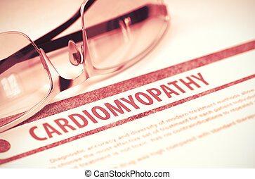 Cardiomyopathy Medicine 3D Illustration - Cardiomyopathy -...