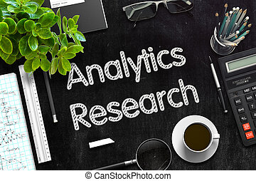 Black Chalkboard with Analytics Research 3D Rendering -...