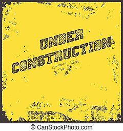 Under Construction Industrial Background Vector Illustration...