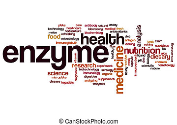 Enzyme word cloud concept