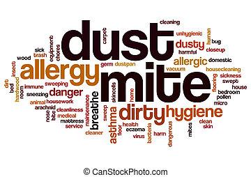 Dust mite word cloud