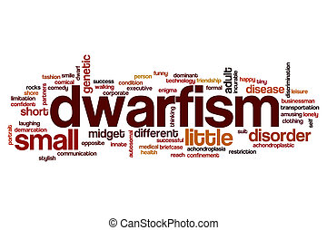 Dwarfism word cloud concept
