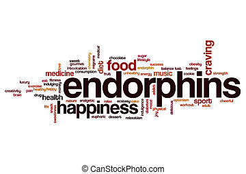 Endorphins word cloud concept