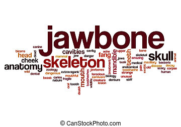 Jawbone word cloud concept