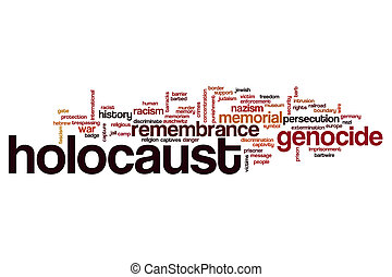 Holocaust word cloud concept