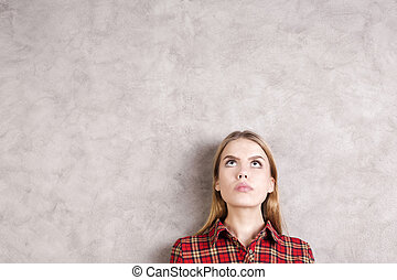 Young woman portrait - Portrait of attractive young woman on...