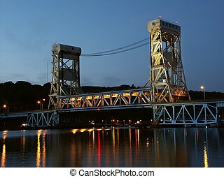 Portage Lake Lift Bridge - Houghton - The Portage Lake Lift...