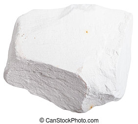 Chalk stone isolated on white background - macro shooting of...