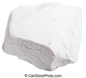 Tiza, piedra, aislado, en, blanco, Plano de fondo