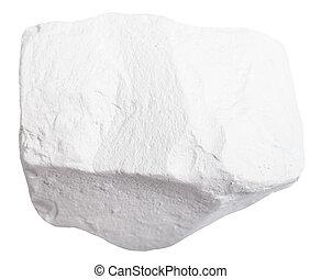 espécimen, de, Tiza, roca, aislado