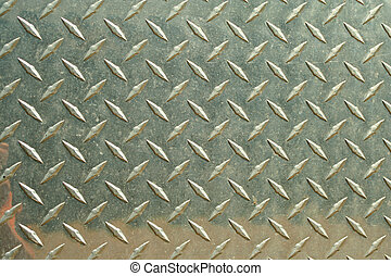 Aluminum diamondplate background - A Aluminum diamondplate...