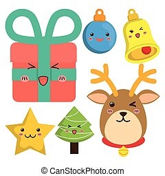 Reindeer and cartoons of Chistmas design - reindeer gifts...