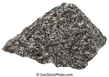 nepheline syenite mineral isolated on white - macro shooting...