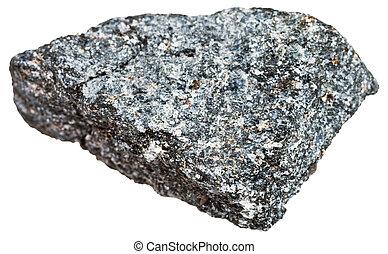 nepheline syenite stone isolated on white - macro shooting...