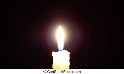 candle in the dark, candle goes out