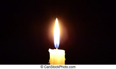candle in the dark, candle goes out - Candle and wind,...