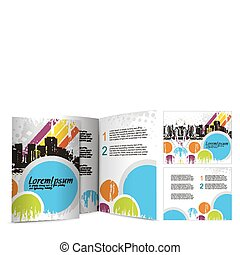 brochure design for night club, vector illustartion
