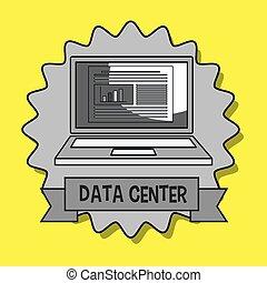 data center laptop doc vector illustration eps10