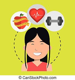 woman sport health icon - woman sport health vector...