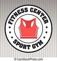 fitness center sportswear gym vector illustration graphic...