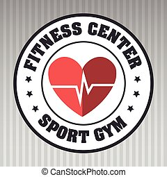 Cardio sport gym - cardio sport gym vector illustration...